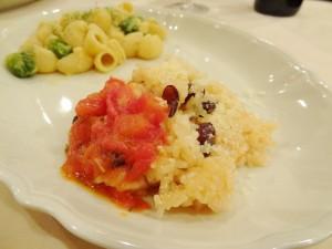 うずら豆、おこわ 生サンマルツァーノトマトソース